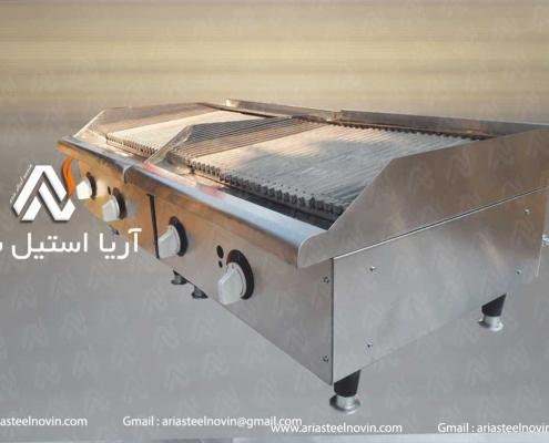 دستگاه گریل ذغالی _ تجهیزات آشپزخانه صنعتی