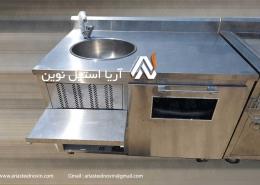 سینک صنعتی استیل تجهیزات فست فود تجهیزات آشپزخانه صنعتی