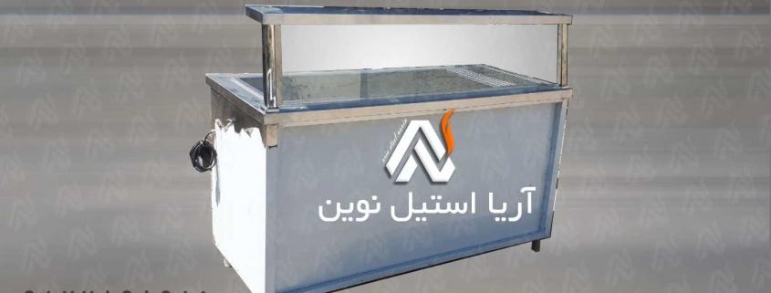 کانتر-گرم-ساده-استیل | تجهیزات فست فود | تجهیزات آشپزخانه صنعتی