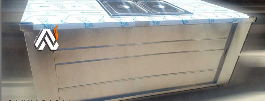 کانتر گرم دو لگن   تجهیزات فست فود   تجهیزات آشپزخانه صنعتی