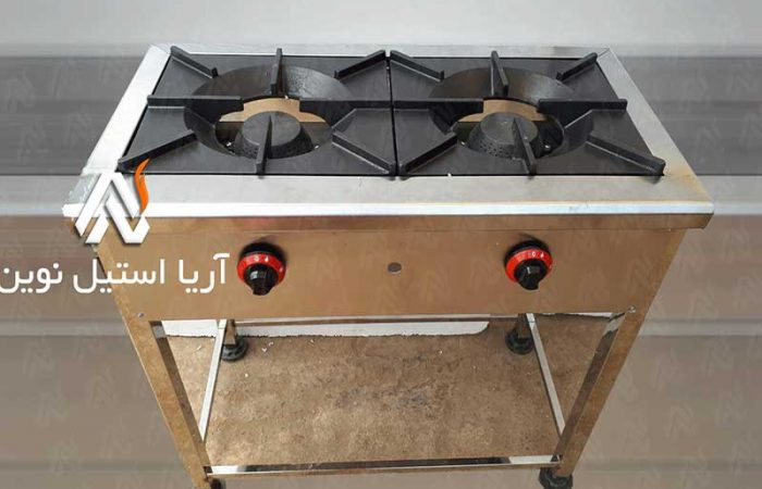 اجاق دو شعله پایه دار | تجهیزات آشپزخانه های صنعتی و تجهیزات فست فود