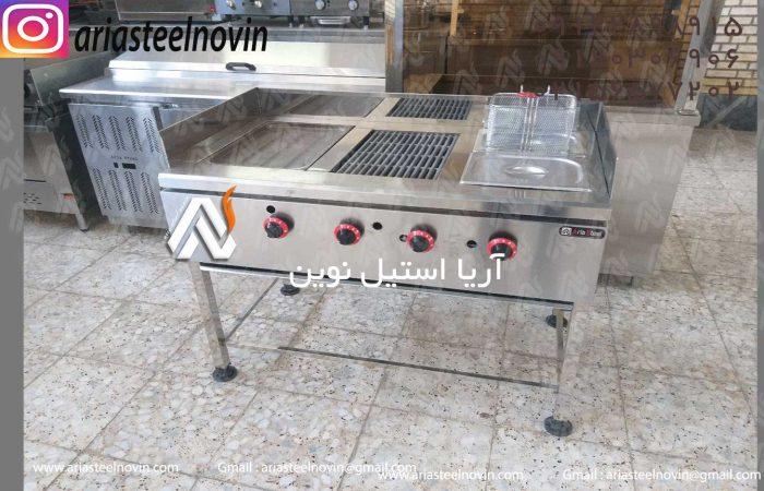 فر-ترکیبی-استیل | تجهیزات آشپزخانه صنعتی | تجهیزات فست فود