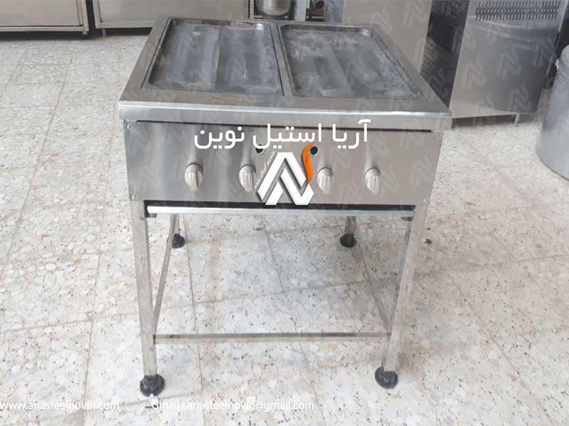 گریل-تخت-پایه-دار | تجهیزات آشپزخانه صنعتی | تجهیزات فست فود
