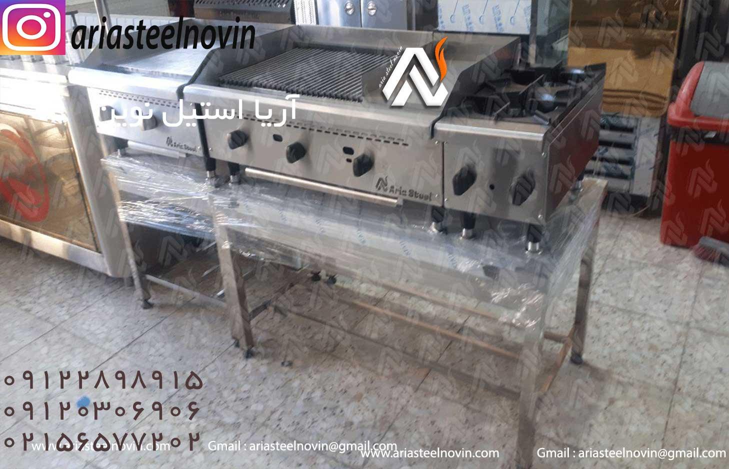 خط-گریل-همبرگر | تجهیزات آشپزخانه صنعتی | تجهیزات فست فود