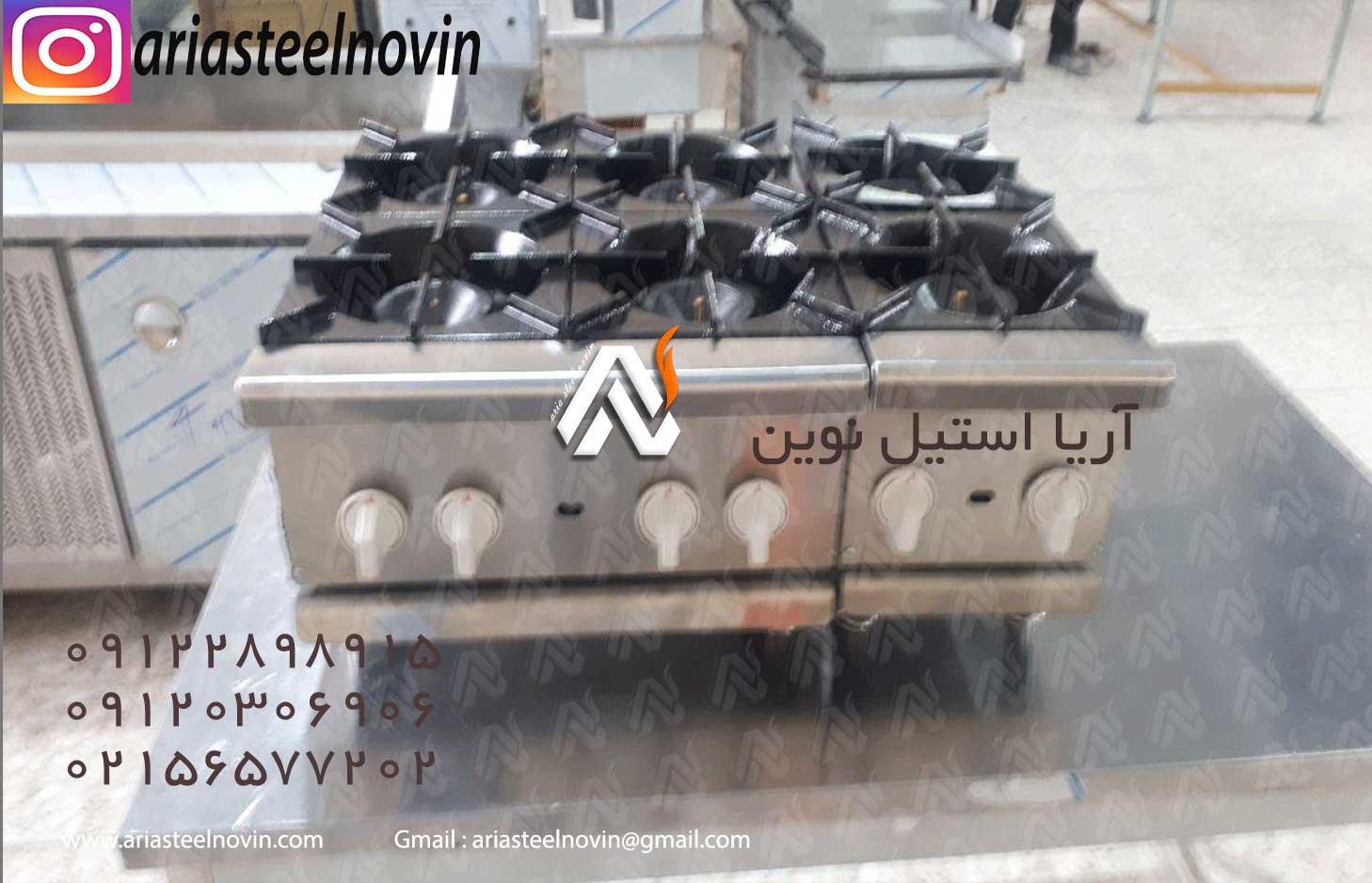 اجاق-دو-شعله-رومیزی-صنعتی و اجاق چهار شعله رومیزی صنعتی