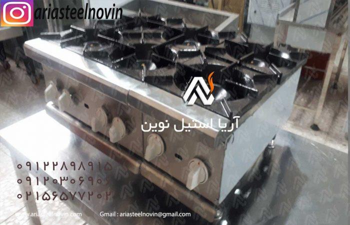 اجاق-چهار-شعله-رومیزی-صنعتی   تجهیزات آشپزخانه صنعتی   تجهیزات فست فود
