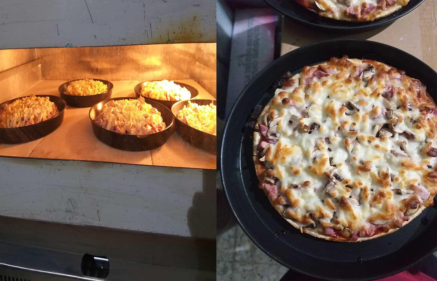 پخت ایتالیایی پیتزا