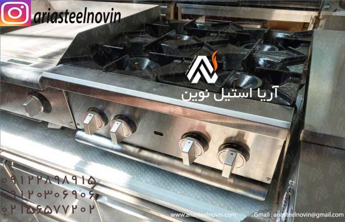 چهار-شعله-رومیزی | تجهیزات آشپزخانه صنعتی | تجهیزات فست فود