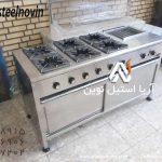 اجاق-شش-شعله-مرکب | تجهیزات آشپزخانه صنعتی | تجهیزات فست فود
