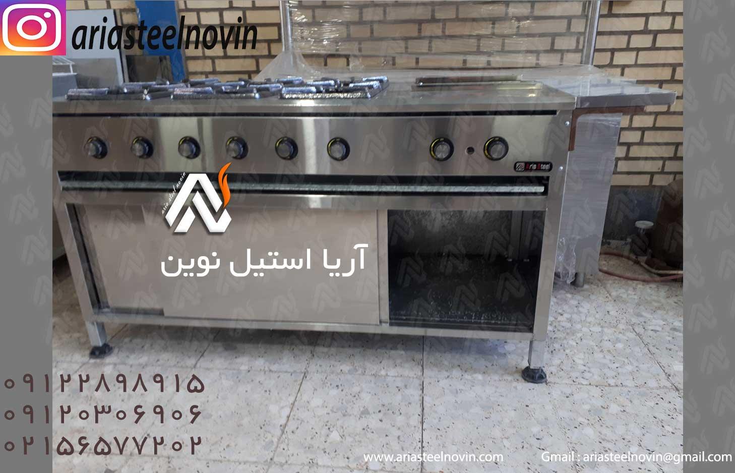 قیمت-اجاق-گاز-شش-شعله-مرکب