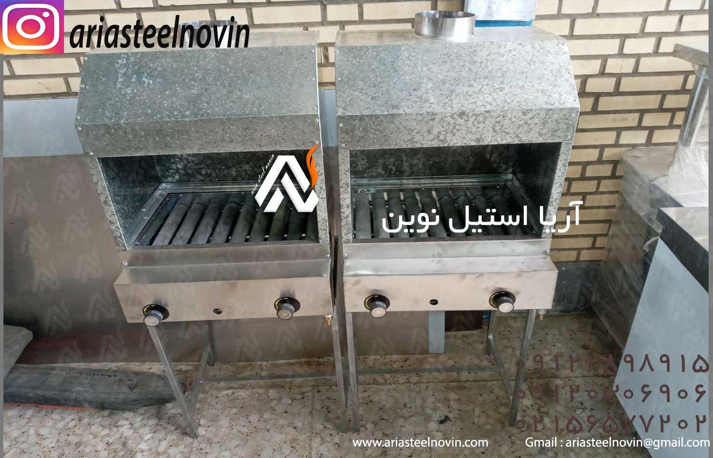 کباب-پز-گازی-ایستاده-9-شعله تجهیزات آشپزخانه صنعتی | تجهیزات فست فود