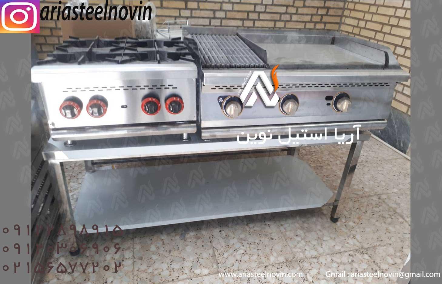 دستگاه پخت همبرگر ذغالی