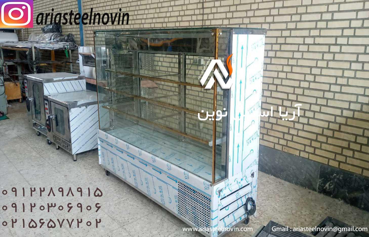 یخچال-قنادی-آریا-استیل